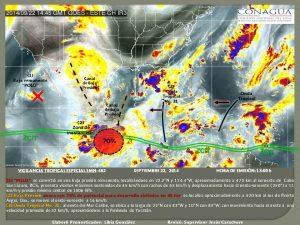 Incrementa a 70% potencial de desarrollo ciclónico en el Golfo de Tehuantepec