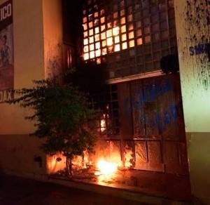 PGJE investiga incendio en inmueble del Sindicato 28 del IMSS, el conflicto es intersindical y los responsables están identificados