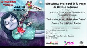 """Ayuntamiento capitalino realizará conferencia  """"El Feminicidio y Accesos a la Justicia en Oaxaca"""""""