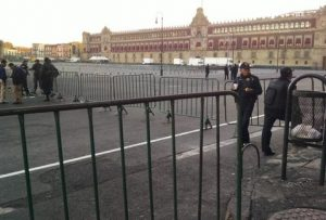 Resguardan Palacio Nacional por mensaje de Peña