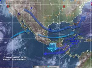 Vientos fuertes en el Istmo de Tehuantepec