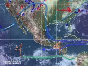 Prevalecerán lluvias muy fuertes en territorio oaxaqueño