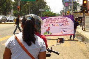 Impulsan campaña de cultura vial Benjamín Robles y Jóvenes Unidos