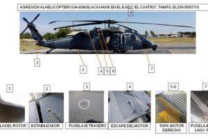 Atacan helicóptero de la Marina