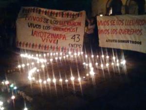 Exigen normalistas presentación con vida de sus compañeros de Ayotzinapa