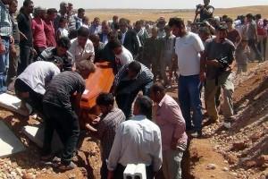 Entierran en Kobane a niño sirio ahogado