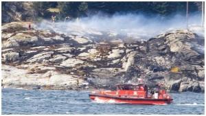 Un helicóptero se estrella al oeste de Noruega con trece pasajeros