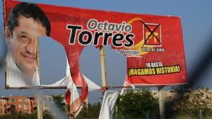 Priistas destruyen publicidad del PT en Xoxocotlán