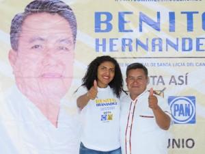 Maribel Díaz  deja su candidatura a Diputada Local por el distrito 12 y se une a Benito Hernández