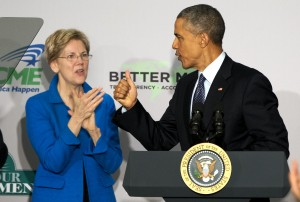 Obama y senadora Warren defienden regulaciones financieras en EU