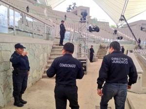 """Previo a evento """"Donají, La Leyenda"""", comisionado de Seguridad Pública Municipal, supervisa el dispositivo de seguridad"""
