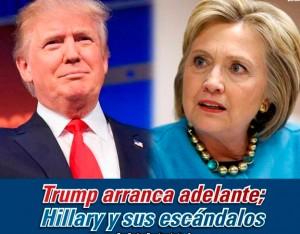 Trump arranca adelante; Hillary y sus escándalos: Carlos Ramírez