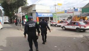 Realiza Policía Municipal operativos de vigilancia en Mercado de Abastos