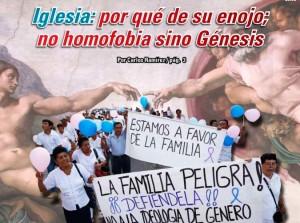 Iglesia: por qué de su enojo; no homofobia sino Génesis: Carlos Ramírez
