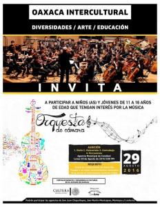 ConArte lanza convocatoria para formar Orquestas de Cámara en Oaxaca