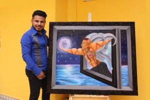 Pintor oaxaqueño, José de Mendoza; con su talento innato brilla con luz propia