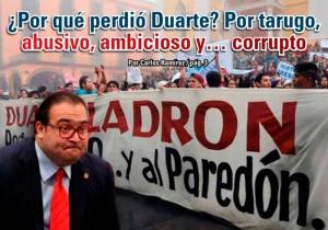 ¿Por qué perdió Duarte? Por tarugo, abusivo, ambicioso y… corrupto: Carlos Ramírez