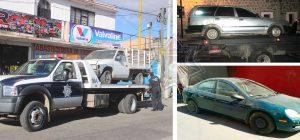 Policías Municipales recuperan tres vehículos con reporte de robo