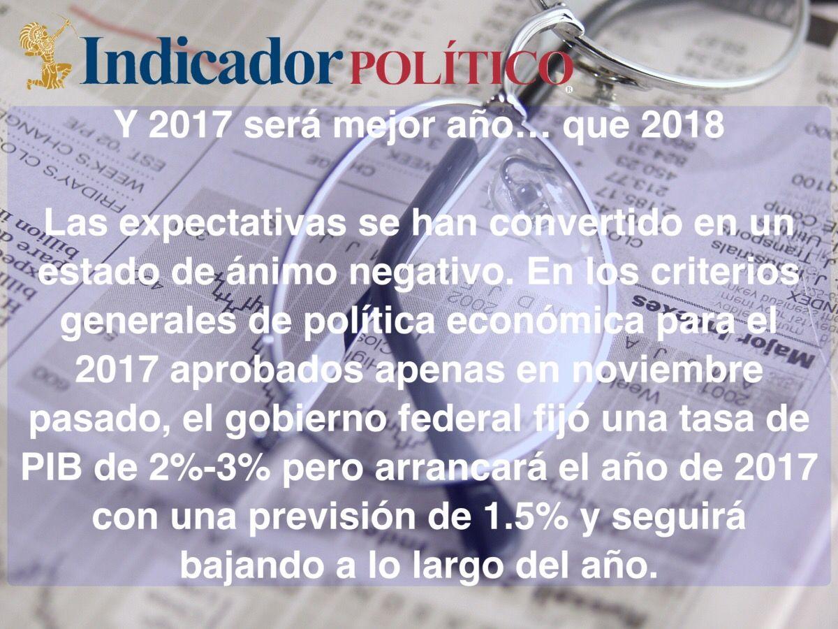 Y 2017 será mejor año… que 2018: Carlos Ramírez