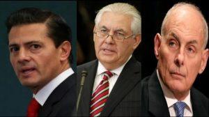 Tillerson y Kelly se reunirán con Peña Nieto, confirma EU