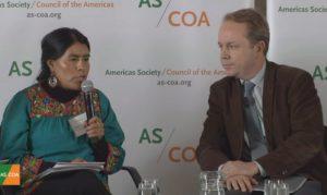 Reconocen líderes mundiales el trabajo de la oaxaqueña, Eufrosina Cruz Mendoza