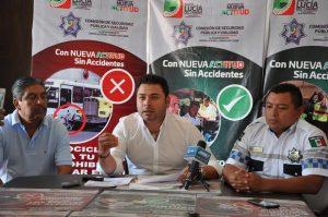 Anuncia Raúl Cruz programa de concientización para la prevención de accidentes viales en Santa Lucía del Camino