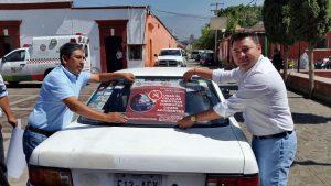 Raúl Cruz inicia campaña para la prevención de accidentes viales en Santa Lucía del Camino