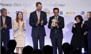 Rey de España insta a preservar valores de periodismo en era digital