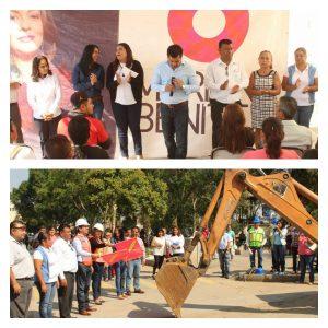Con la gestión y apoyo de Mariana Benítez, inicia mejoramiento urbano en Ejutla