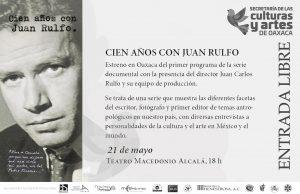 Festejan centenario del natalicio de Juan Rulfo en Teatro Macedonio Alcalá