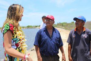 Invierte CDI por gestiones de Yarith Tannos un millón 300 mil en granja Camaronícola en Tapanatepec.