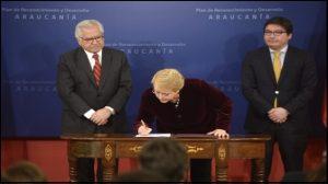 Presidenta Bachelet pide perdón al pueblo mapuche chileno