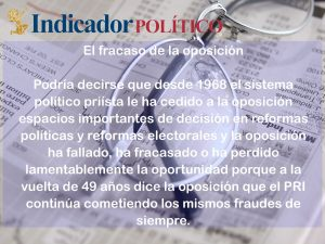 El fracaso de la oposición: Carlos Ramírez