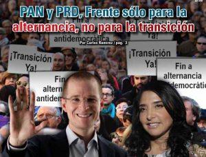 PAN y PRD, Frente sólo para la alternancia, no para la transición