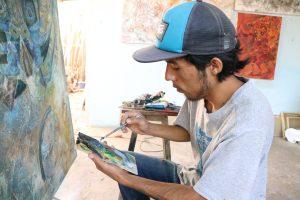 Marcos Cortés,  joven promesa para la pintura en Oaxaca