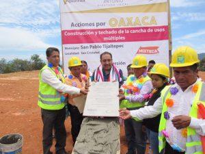 Con obras de infraestructura, mejora diputado Horacio Antonio calidad de vida en la Mixteca