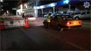 Sanciona Policía Vial a 24 conductores durante Operativo Alcoholímetro