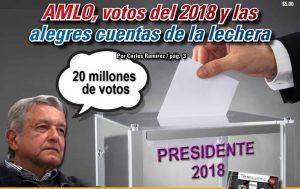 AMLO, votos del 2018 y las alegres cuentas de la lechera: Carlos Ramírez
