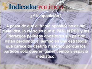 ¿Y la oposición?: Carlos Ramírez