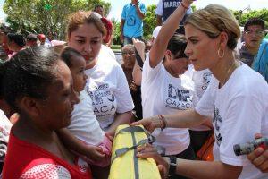 Continúa Ivette Morán recorriendo zonas afectadas del Istmo