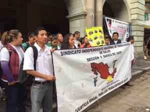 Sindicalizados de Salud piden la recontratación de 9 de sus compañeros