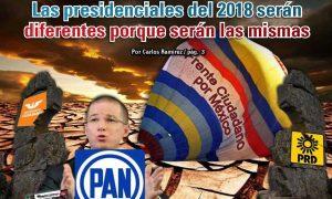 Las presidenciales del 2018 serán diferentes porque serán las mismas: Carlos Ramírez