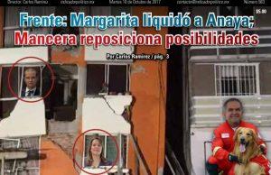 Frente: Margarita liquidó a Anaya; Mancera reposiciona posibilidades: Carlos Ramírez
