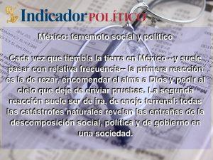 México: terremoto social y político: Carlos Ramírez