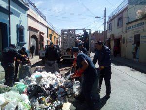 Continúan acciones de limpieza en la capital