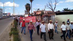 Marcha Antorcha Campesina en Oaxaca