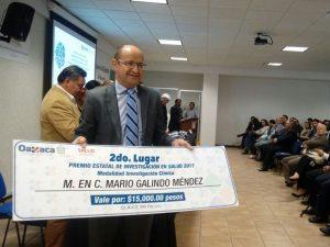 Entrega SSO Premio Estatal de Investigación en Salud 2017