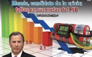 Meade, candidato de la crisis; fallas en sus metas del PIB: Carlos Ramírez