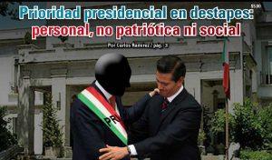 Prioridad presidencial en destapes: personal, no patriótica ni social: Carlos Ramírez