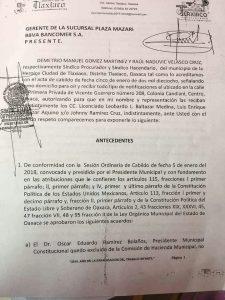 A LAS CIUDADANAS, CIUDADANOS Y TRABAJADORES DEL AYUNTAMIENTO DE TLAXIACO